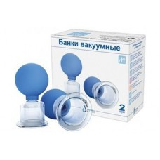 Set of 2 vacuum massage of neck and back - vacuum cups